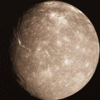 Titania, the largest moon of Uranus.